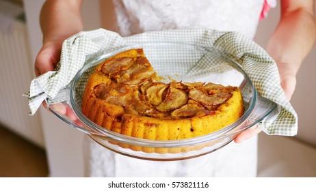 Beautiful delicious just baked apple cinnamon pie