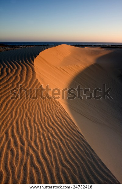 Beautiful Desert Stockton Dunes Anna Bay Stock Photo (Edit Now) 24732418
