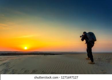 Beautiful Desert Sunrise Background at SAUDI ARABIA.