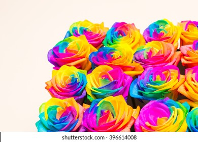 Beautiful design of boxes with colorful flowers. Gift. Decoration.
