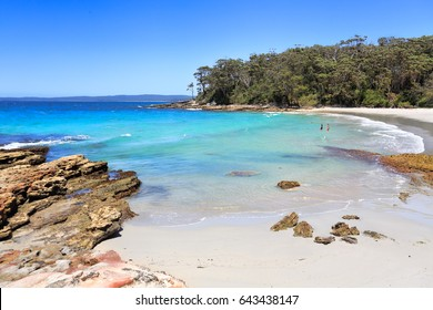 Beautiful destinations of Australia, Blenheim Beach Jervis Bay, Australia, pristine waters under perfect blue skies,