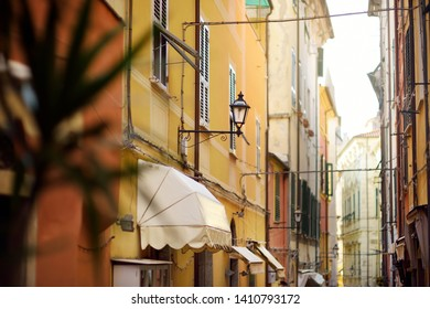 Beautiful details in Lerici town, located in the province of La Spezia in Liguria, part of the Italian Riviera, Italy.
