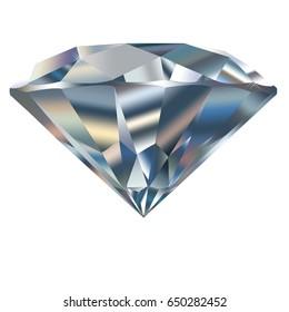 beautiful diamond isolated on white background