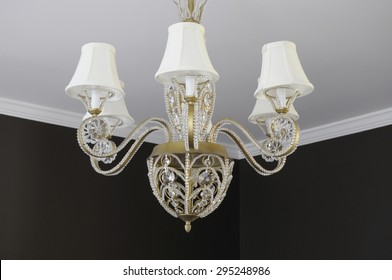 beautiful dining room chandelier with lampshades