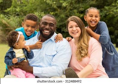 Beautiful diverse family.