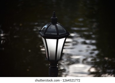 Beautiful and diverse subject. Beautiful and stylish vintage retro and vintage park lamp and lantern in nature.