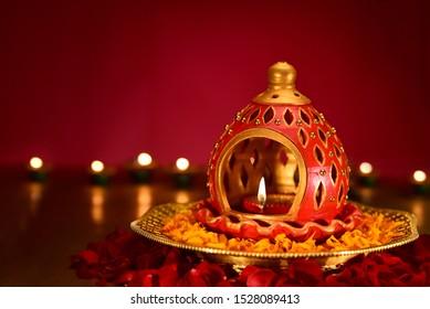 Beautiful diwali diya Background for Indian festival diwali celebration, Diwali lamp