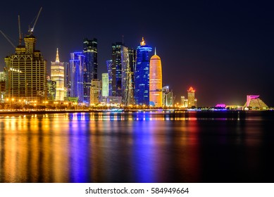 Beautiful Doha at night
