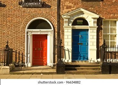 Beautiful doors in Dublin, Ireland