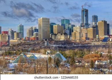 Beautiful Downtown Edmonton Scenery
