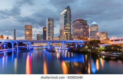 Beautiful downtown Tampa Florida at twilight