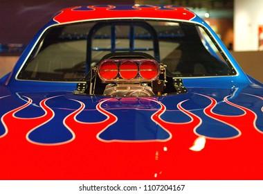 Beautiful drag racer