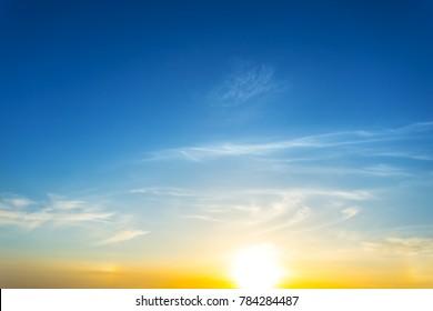 beautiful dramatic sunset background