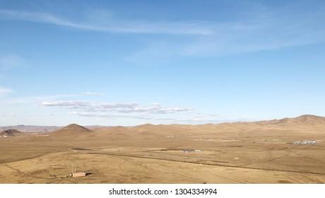 Beautiful Dry Desert Landscape