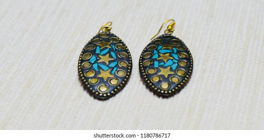Beautiful earrings for female isolated unique photo