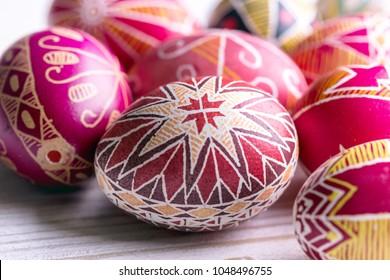 beautiful Easter egg Pysanka handmade - ukrainian traditional
