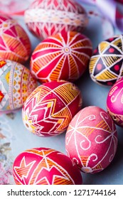 beautiful Easter egg Pysanka handmade - ukrainian traditional