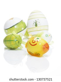 Beautiful Easter Eggs with reflections