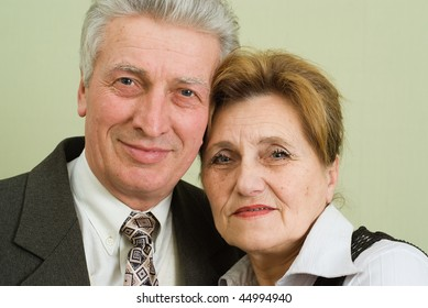 beautiful elderly couple businessmen are together  in the office