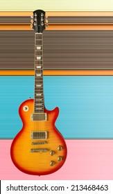 Beautiful electric guitar.