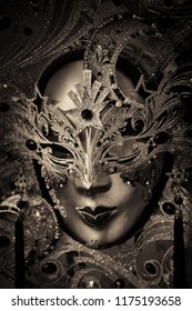 Beautiful and elegant mask in Venice, Italy.