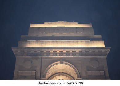 Beautiful and elegant night scene of India Gate, New Delhi, India