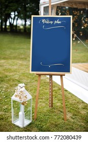 Beautiful elegant stylish wedding guest table list.