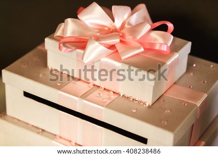 Beautiful Elegant Wedding Gifts White Boxes Stock Photo Edit Now
