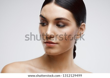 898862bef7c19 Beautiful Elegant Woman Bare Shoulders Cosmetology Stock Photo (Edit ...
