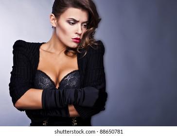 Beautiful elegant woman. Luxury photo.