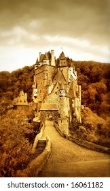 beautiful Eltzburg castle (Germany) - artistic toned picture