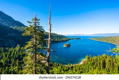 Beautiful Emerald bay, Lake Tahoe, California