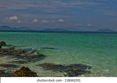 Beautiful Emerald Blue Clear Water Of Andaman Sea, Thailand