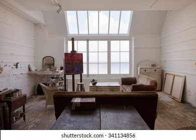 Beautiful Empty Artist's Studio With Bright Natural Light