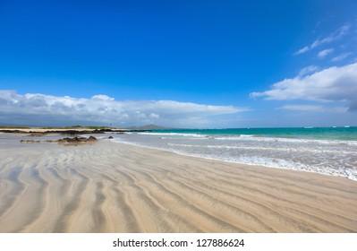Beautiful empty beach on Galapagos Isabela island, Ecuador