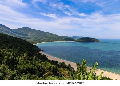 Beautiful empty blue island beach in Soutastasia, close to Da Nang, Vietnam; Island Vacation
