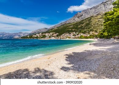 Beautiful Empty Sandy Beach Near Baska Voda - Baska Voda, Makarska, Dalmatia, Croatia