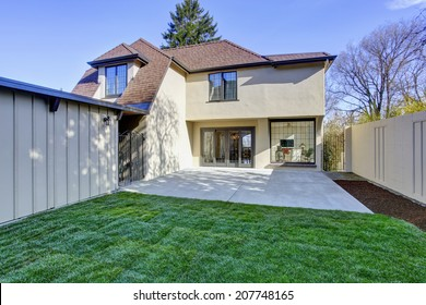 Beautiful english tutor house with concrete floor walkout deck and lawn