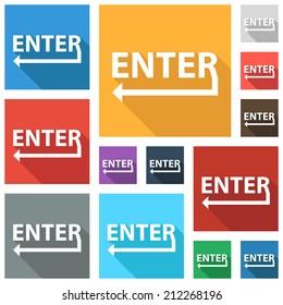 Beautiful Enter web icon