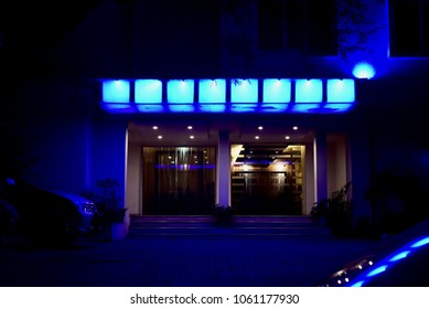 Beautiful entrance door of a nightclub isolated unique stock photograph