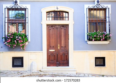 Beautiful entrance of an old house