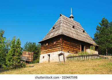 Beautiful ethno house in Sirogojno, Zlatibor mountain, Serbia.