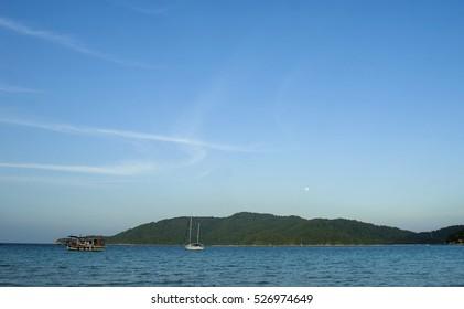 Beautiful evening scene at Perhentian Kecil Island, Terengganu, Malaysia.