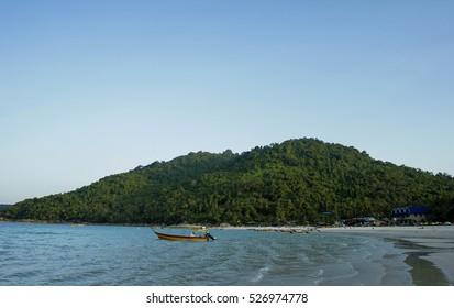 Beautiful evening scene at Perhentian Kecil Island beach, Terengganu, Malaysia.