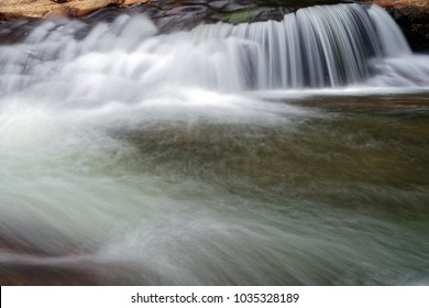 The beautiful evergreen paradise of the waterfall