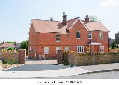Beautiful Example Of A New House, Modern British Development.