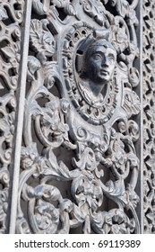 Beautiful example of an ornate Paris door.