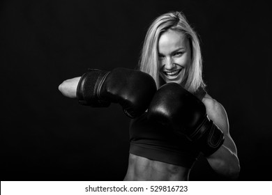 Beautiful exercise, muscular woman