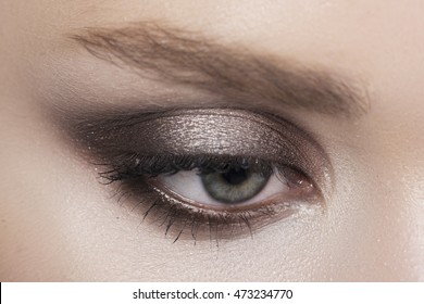 Beautiful eye makeup close up