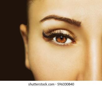 Beautiful Eyes Make up detail, perfect beauty eyelashes